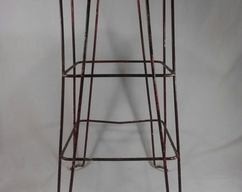 Vintage wire industrial metal stool  sc 1 st  Etsy & Vintage metal stool | Etsy islam-shia.org