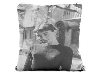 Audrey Hepburn Black Top - Cushion Case Covers, New Cotton Textile