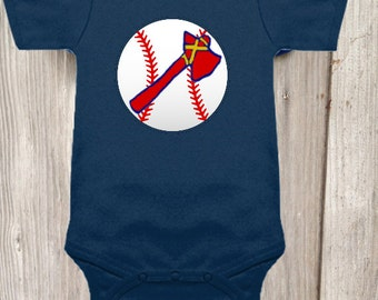 Atlanta Braves Inspired Bodysuit for Baby Boy