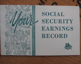 1960's Social Security Paper Ephemera Government Printing - American America USA US History Personal Finance  Vintage