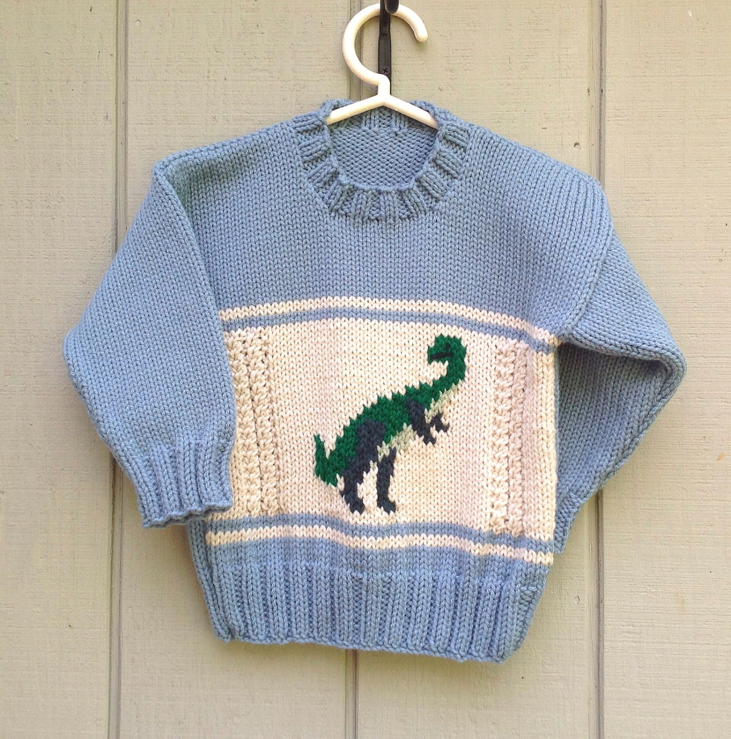 Dinosaur sweater 4 years Kids knit dinosaur jumper Kids