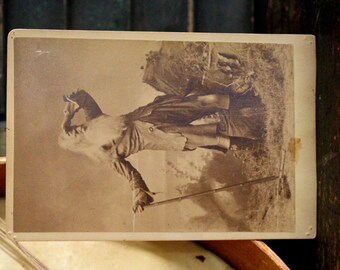 Cabinet Card Actor Posing as  Rip Van Winkle, A Shepherd