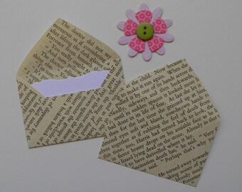 H.E Bates mini envelopes, Inserts optional, The Purple Plain, Book envelopes, Paper ephemera, Paper embellishments, Free shipping world wide
