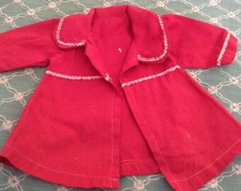 Vintage  Red Fashion Doll Coat