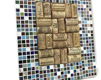 Mosaic Wine Cork and Bulletin Board in Metallic Flare