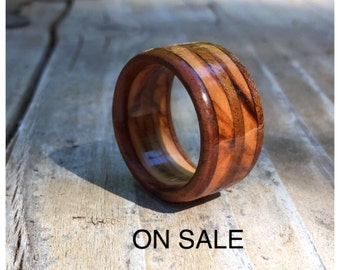 Walnut and Olive wood ring, wood ring, wooden ring, wood ring for men, wood ring for women, mens ring, womens ring, rustic wood ring,