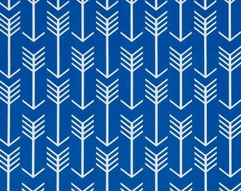 Royal Blue Arrow Fabric by the Yard Designer Indoor Outdoor Fabric Curtain Fabric Cushion Fabric Upholstery Fabric Home Decor Fabric S112