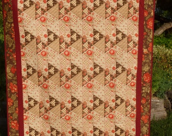Triangle Roses Lap Quilt - FREE SHIPPING