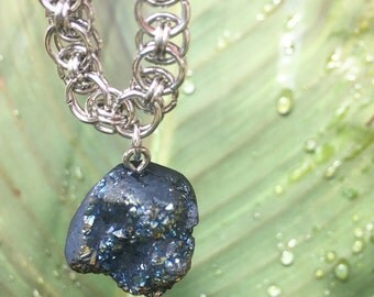 Chainmaille Stone Necklace