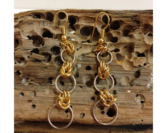 Gold Wire Wrap Earrings