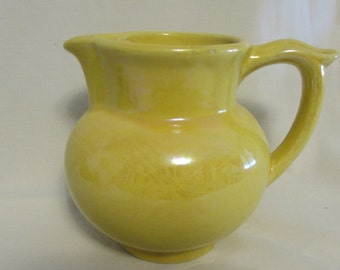 Pitcher, Pantry Parade, Yellow Luster, 1960's
