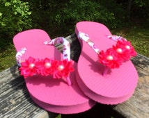 Breast Cancer Pink Owl Awareness Flip Flops. Size Large 9/10 Womens Flip Flops. Pink/Breast Cancer/Save The Tatas