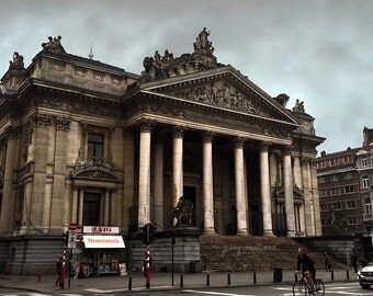 Brussels Stock Exchange on Canvas