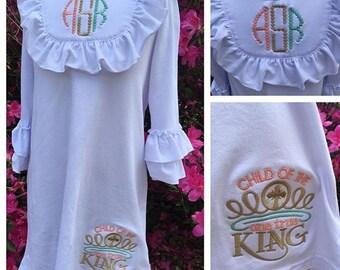 "Child of the One True King"" Ruffled Dress"