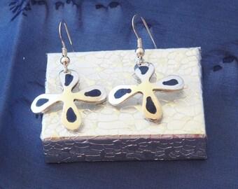 My Tobono enamelled earrings makeforgood