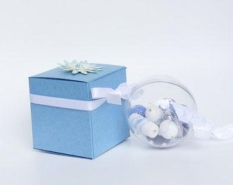 Blue Flowergirl gift, flowergirl bracelet, bridesmaid gift, Blue bead bauble, wedding accessory, bridal accessory