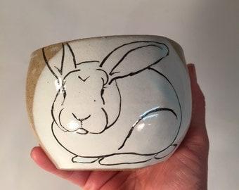 Small Square Bunny Bowl