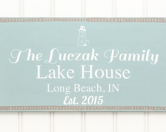 Custom Lake House Decor - Personalized Lake House Sign - Custom Lake House Signs - Lake Signs - Lake Decor - Lake House Sign -Lake House Art
