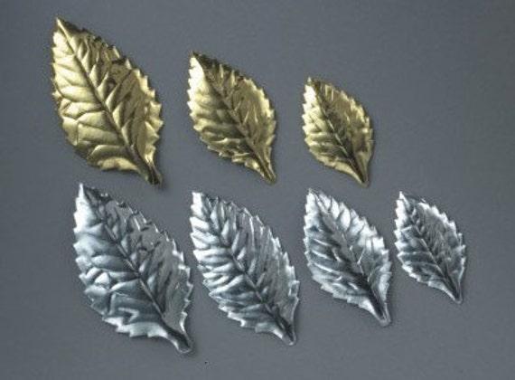 Silver Foil Cake Leaves Gold Foil Cake Leaves Small Foil