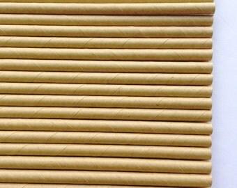 18 Pcs Paper Straws Natural Kraft Drinking Straws Party Supplies