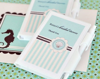 Personalized Notebook Favors - Beach Party (Set of 24)