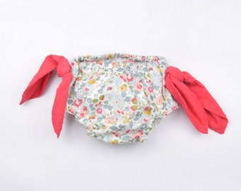 Liberty fabric bloomer, Baby girls bloomer, Baby clothes, Baby fashion, Baby bow bloomer