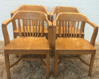 Vintage Bankers Chair Library Chair Boling Chair By
