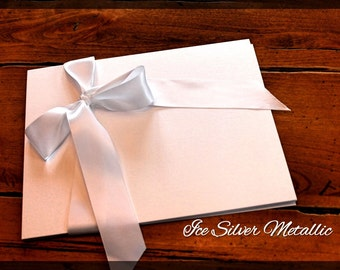 """Paper,  card stock, Curious Metallics, shimmery, invitations, scrap booking, Blank - 8.5 x 11"""" Pack of 50 or 100, Ice Silver Metallic - whit"""
