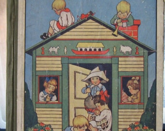 """Vintage Book -""""House of Play Verses - Rhymes - Stories For Young Folks"""" - Selected by Sara Tawney Lefferts"""