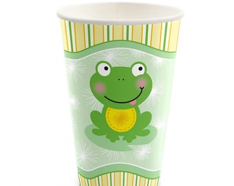Froggy Frog - Hot/Cold Cups - Baby Shower or Birthday Party Supplies - 8 Count