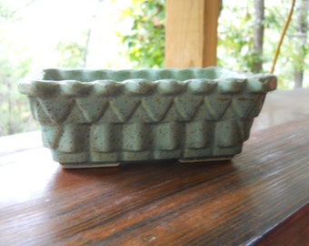 UPCO Vintage Pottery Green Planter
