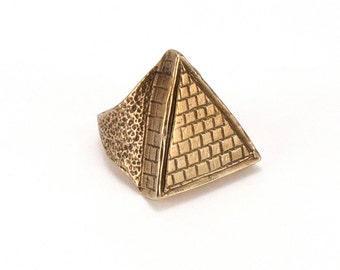 Giza Pyramid Ring | Gold (Brass)