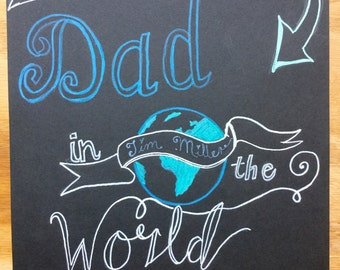 Father's Day chalk drawing