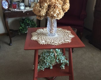 End table updated with chalk paint