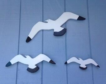 Seagull (Set of 3) Seagull/ Seagull Wall Decor/Beach Decor/Hanging Beach Decor/Seagull Wall Hanging/Hanging Seagull/Beach House