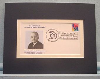 1948 - Israel Declares its Independence and is Recognized by U.S. under Harry Truman & Commemorative Cover