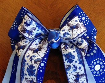 Hair Bows for Horse Shows/Equestrian clothing/beautiful blue horses