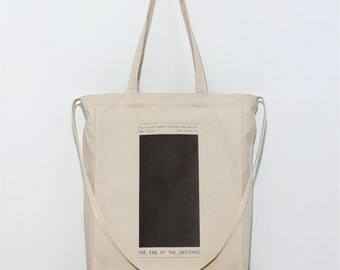 Silence Black - Canvas tote bag / Daily bag / Graphic Design / 1 Day 1 Bag