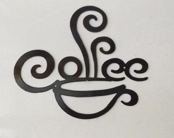 metal coffee sign