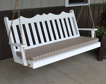 Yellow Pine Royal English 6ft. Outdoor Porch Swing