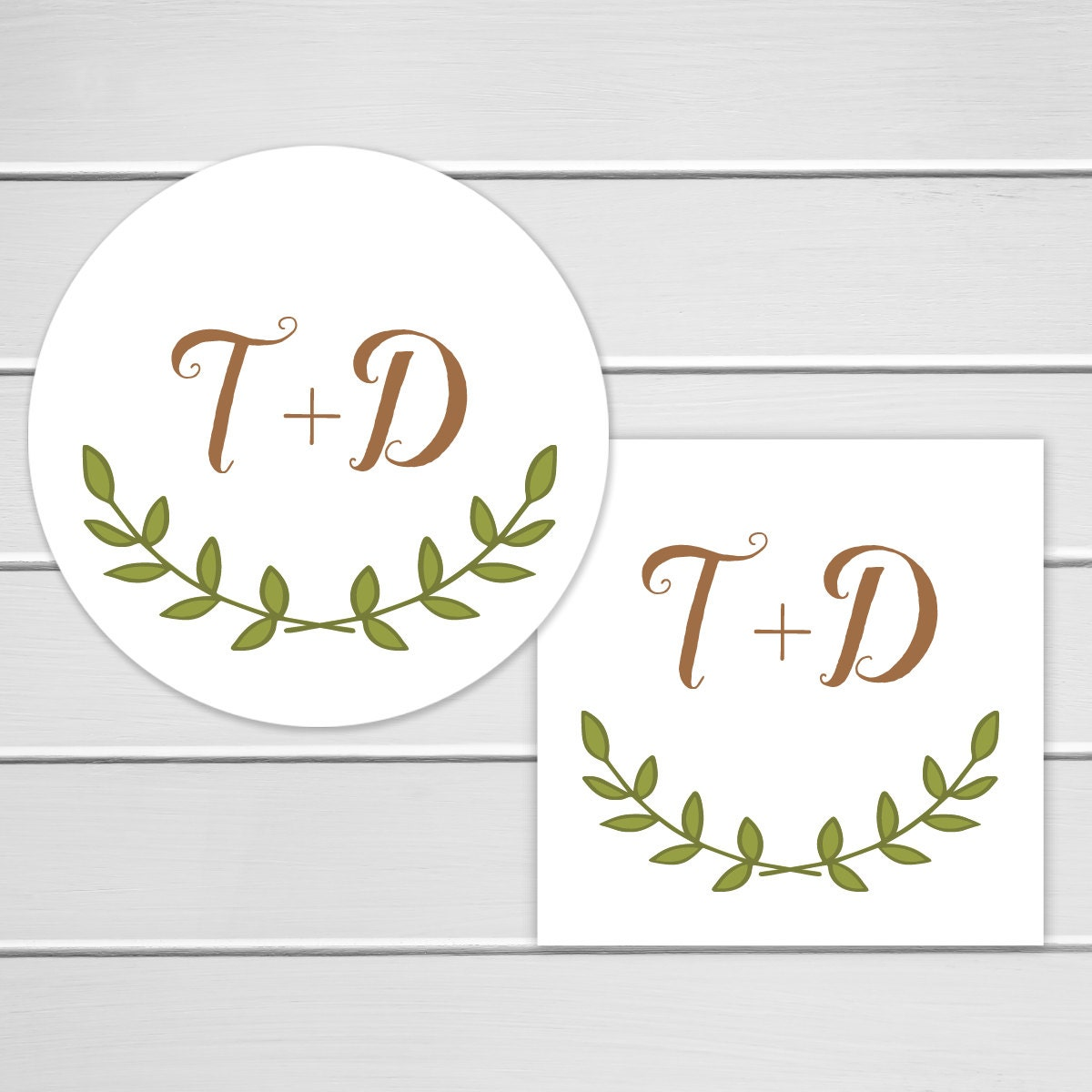 Rustic Wedding Sticker Personalized Wedding Invitation