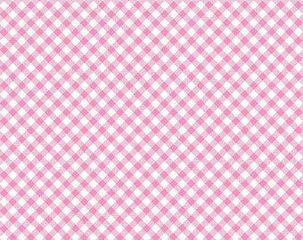 45'' Henry Glass & Co. Ric Rac Paddywack Pink Gingham Flannel by the Yard 6463-22