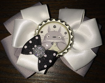 "Keeper of the Forest ""Totoro"" Hair Bow Loving Protector ""Totoro"" Hair Clip Japanese Animation ""Totoro"" Hair Accessory"