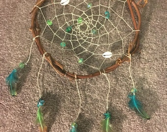 """By The Sea 8"""" Grapevine and Hemp Dreamcatcher"""