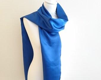 satin scarf blue 26/195 cm wedding/party/christening/cocktail/Christmas/holiday season