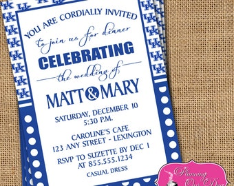 UK Kentucky Party Tailgate Shower Invitations PRINTED with envelopes