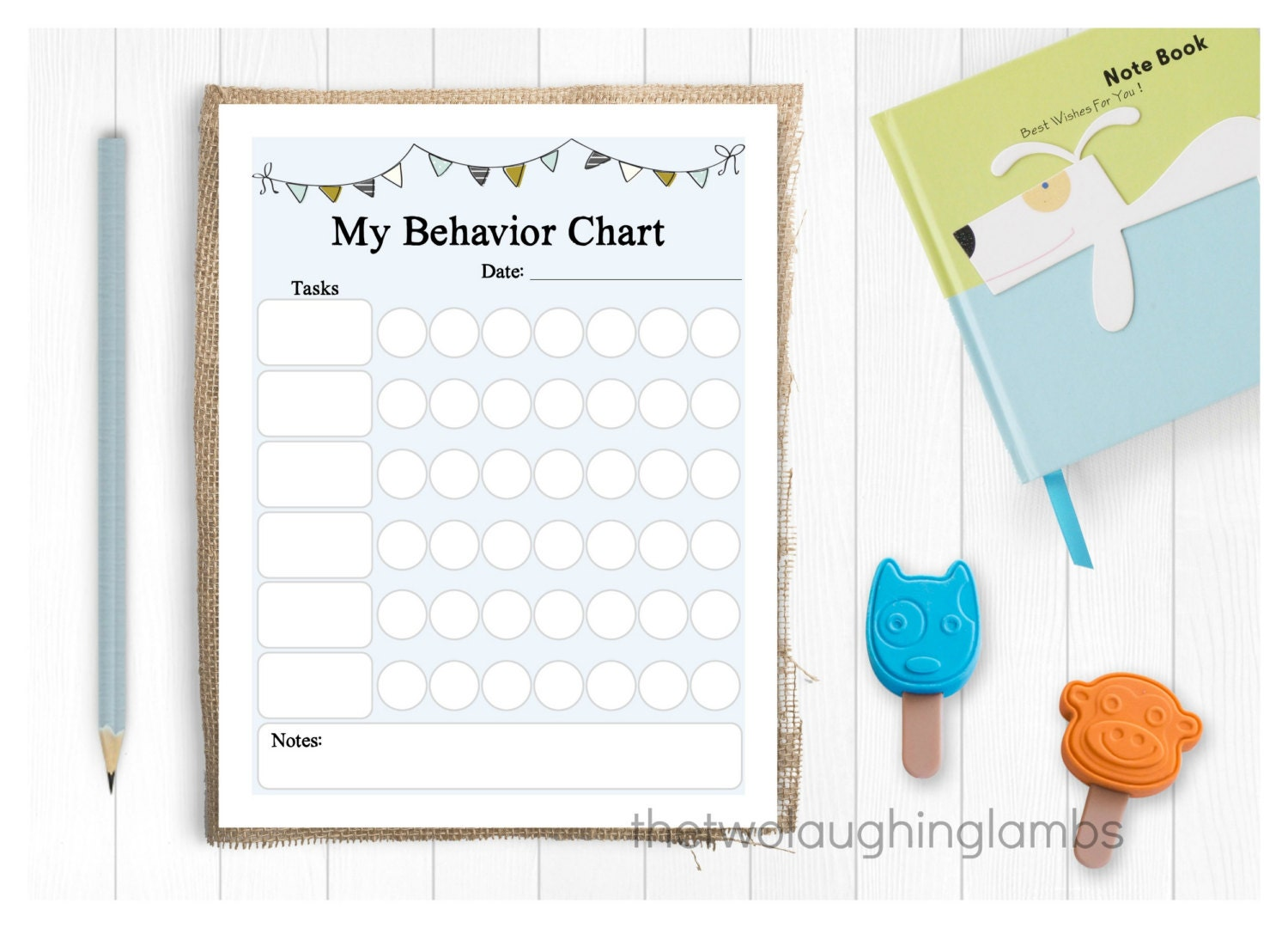 potty chart girl theme instant digital file routine instant chore chart boy theme behavior chart simplistic design bunting design