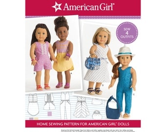 """Simplicity Pattern  8191 American Girl Doll Clothes for 18"""" Doll"""