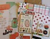 scrapbooking paper kit, MY MINDS EYE, Market Street, mini scrapbook paper kit, paper bag albums kit,