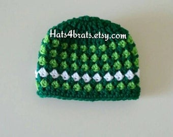 St. Patrick's Day Hat, Baby St. Patricks Day Hat, St. Patrick's Day Photo Prop, Baby Boy St. Patricks Day, St. Patrick's Day  Crochet Hat